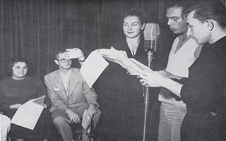 Radio and Television voiceover 1954