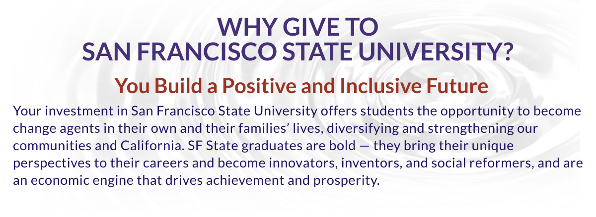 Why give to San Francisco State?