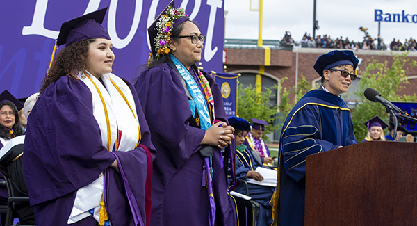 Dean Amy Sueyoshi, College of Ethnic Studies at San Francisco State University Commencement