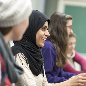 Muslim woman in classroom at SF State