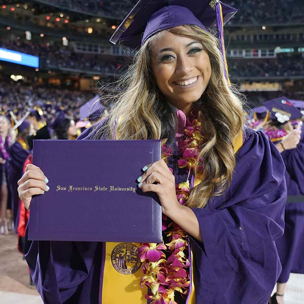 SFSU Graduates at commencement