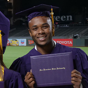 graduate at SF State commencement
