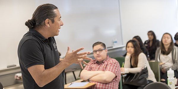 Professor teaching class in SF State's College of Ethnic Studies