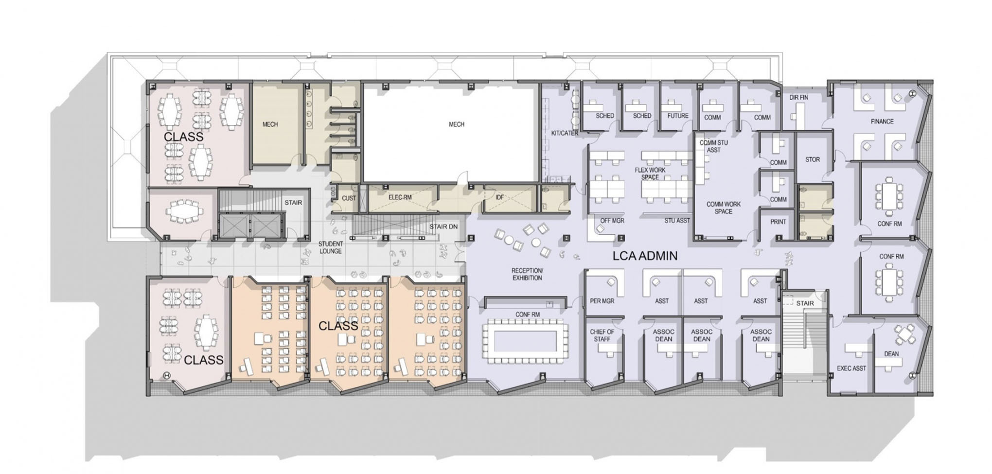 architectural rendering of LCA building