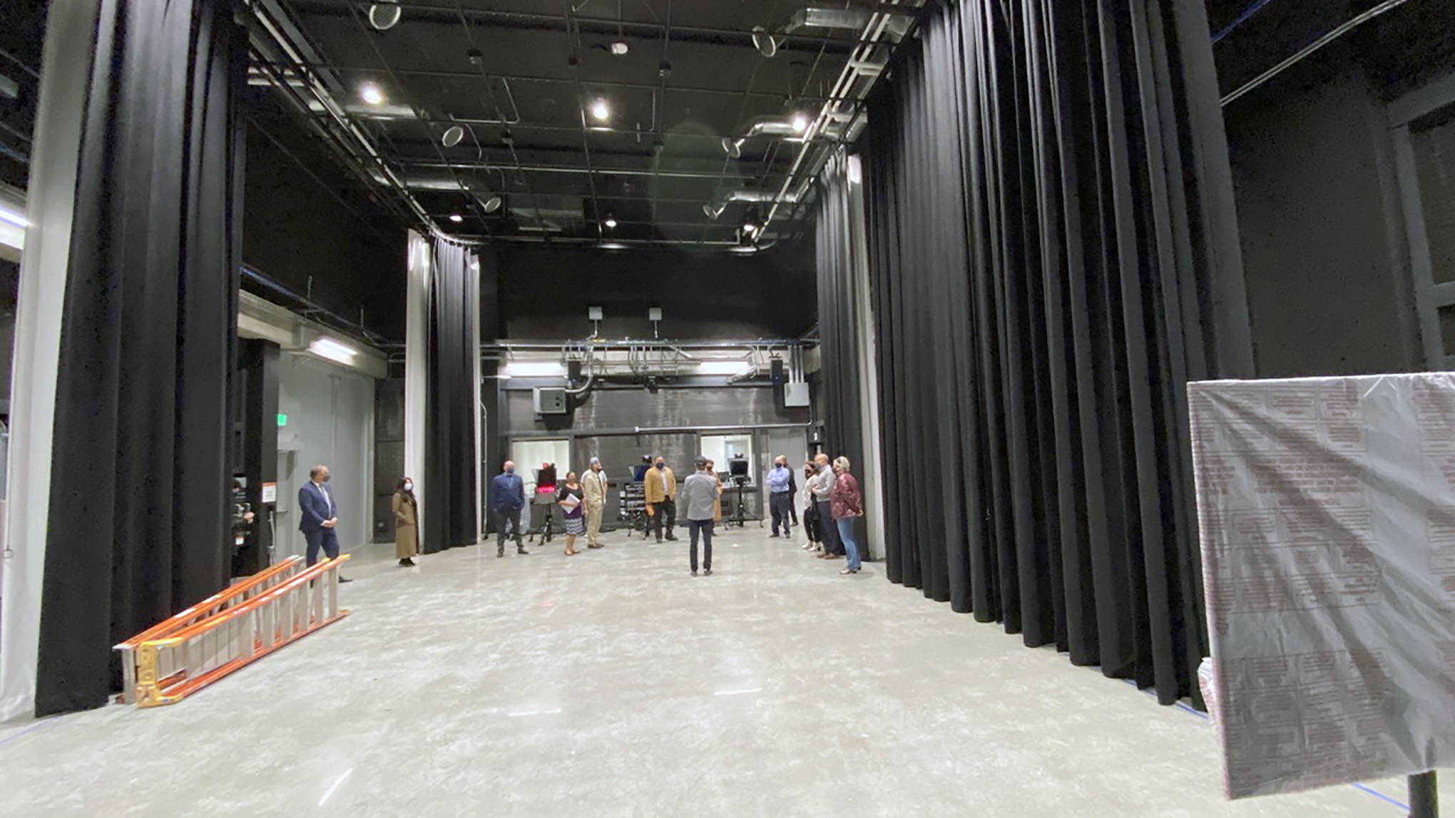 Sound stage in Marcus Hall at San Francisco State University