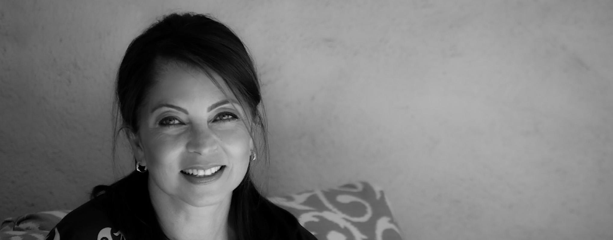 black and white portrait of Neda Nobari