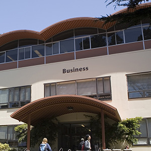 Outside shot of the SFSU business building