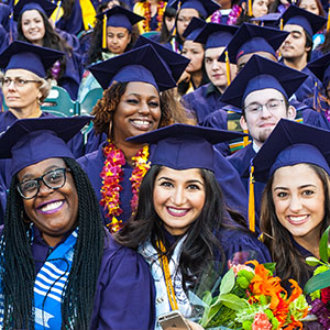 Studens at Commencement